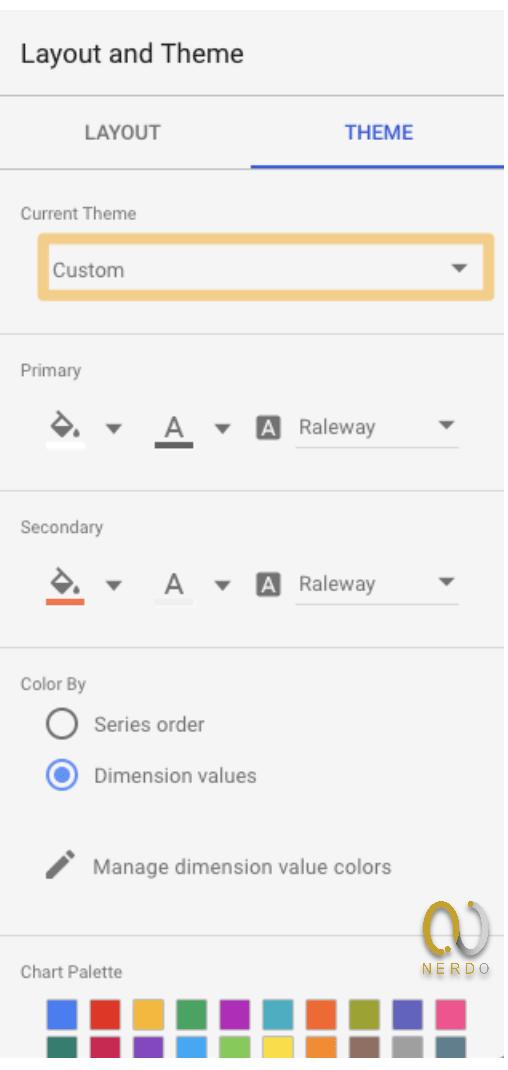 استایل بندی در Google data studio